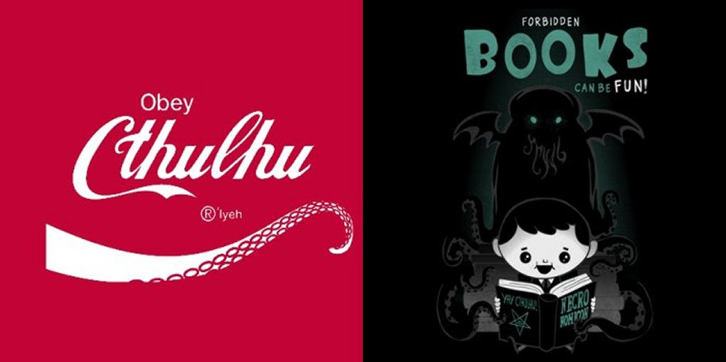 Obey Cthulhu & Forbidden Books are Fun!, from Tee Fury