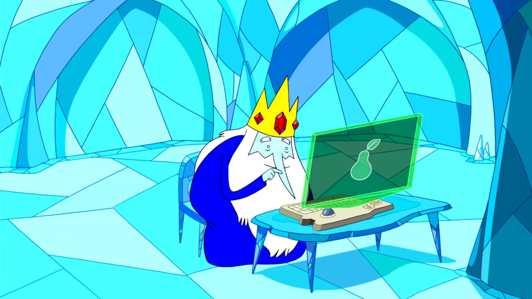 Ice King Surfing the Web